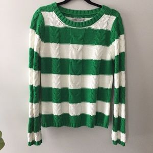 Old Navy Cable Knit Pullover Sweater Large Green
